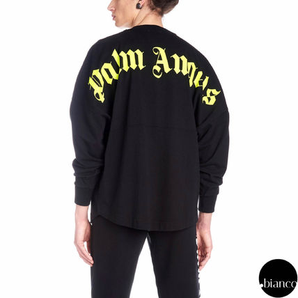 Palm Angels Long Sleeve Crew Neck Unisex Street Style Long Sleeves Cotton 5