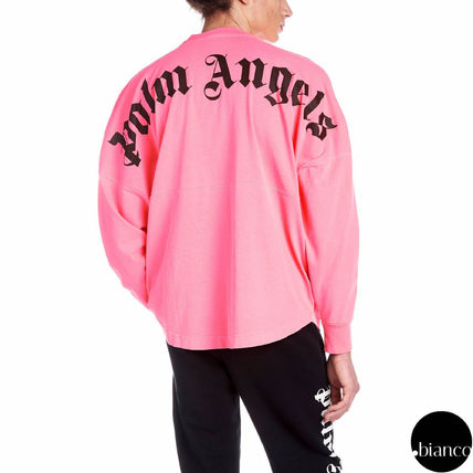 Palm Angels Long Sleeve Crew Neck Unisex Street Style Long Sleeves Cotton 9