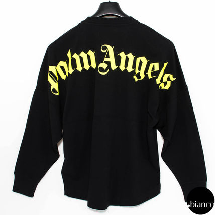Palm Angels Long Sleeve Crew Neck Unisex Street Style Long Sleeves Cotton 2