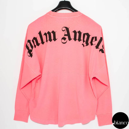 Palm Angels Long Sleeve Crew Neck Unisex Street Style Long Sleeves Cotton 6