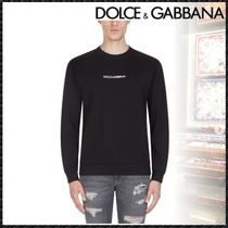 Dolce & Gabbana Crew Neck Pullovers Street Style Long Sleeves Cotton