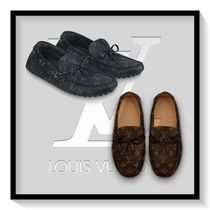 Louis Vuitton Monogram Loafers Blended Fabrics U Tips Loafers & Slip-ons