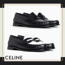 CELINE Blended Fabrics Plain Leather Oxfords