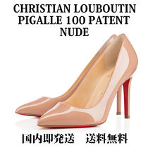 Christian Louboutin Pigalle Follies Enamel Plain Pin Heels Pointed Toe Pumps & Mules
