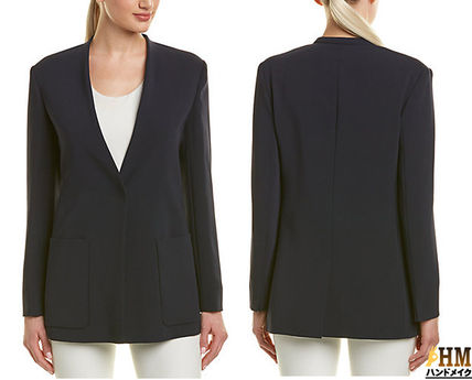 Short Plain Office Style Jackets