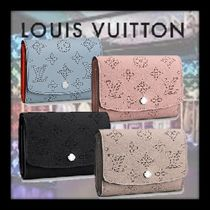 Louis Vuitton MAHINA Monogram Bi-color Leather Folding Wallets