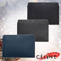 CELINE Calfskin Plain Clutches