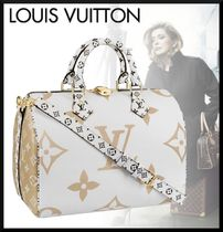 Louis Vuitton MONOGRAM Monogram Casual Style Blended Fabrics 2WAY Leather Handbags