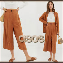 ASOS Casual Style Plain Long Culottes & Gaucho Pants