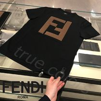 FENDI Crew Neck Cotton Short Sleeves Crew Neck T-Shirts