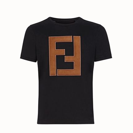 FENDI Crew Neck Crew Neck Cotton Short Sleeves Logo T-Shirt Logo 2