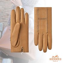 HERMES Leather Leather & Faux Leather Gloves