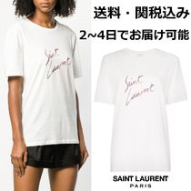 Saint Laurent Cotton Short Sleeves T-Shirts