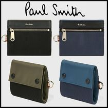 Paul Smith Unisex Nylon Blended Fabrics Plain Folding Wallets