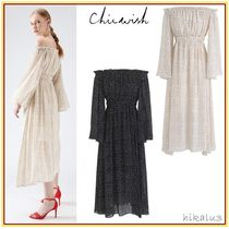 Chicwish Dots Flared Long Party Style Dresses