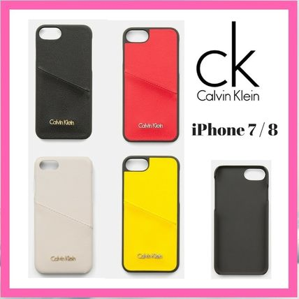 Street Style Plain Leather Smart Phone Cases