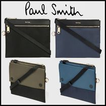Paul Smith Unisex Nylon Blended Fabrics Plain Messenger & Shoulder Bags