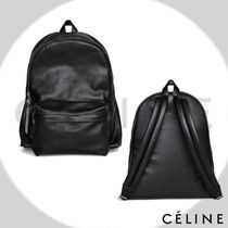 CELINE Calfskin Plain Backpacks
