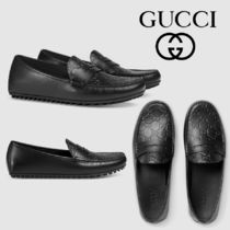 GUCCI Driving Shoes Leather Loafers & Slip-ons