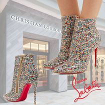 Christian Louboutin So Kate Blended Fabrics Studded Plain Pin Heels Party Style