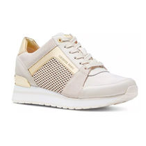 Michael Kors BILLY Round Toe Rubber Sole Casual Style Low-Top Sneakers