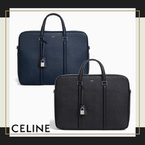 CELINE Calfskin Blended Fabrics 2WAY Plain Business & Briefcases