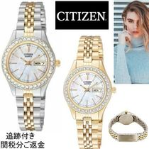 CITIZEN Blended Fabrics Round Quartz Watches Stainless Office Style