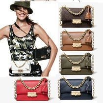 Michael Kors 2WAY Chain Plain Leather Elegant Style Shoulder Bags