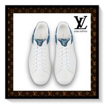 Louis Vuitton Flower Patterns Monogram Blended Fabrics Leather Sneakers