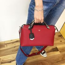 FENDI BY THE WAY 2WAY Plain Leather Elegant Style Handbags