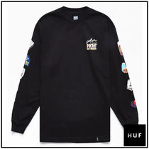 HUF Crew Neck Unisex Street Style Long Sleeves Plain