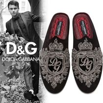 Dolce & Gabbana Plain Toe Sheepskin Loafers & Slip-ons