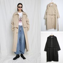 Casual Style Unisex Street Style Plain Long Oversized