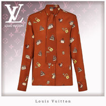 Louis Vuitton Silk Long Sleeves Shirts & Blouses