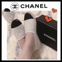 CHANEL SPORTS Casual Style Unisex Bi-color Plain Low-Top Sneakers