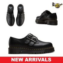 Dr Martens Casual Style Blended Fabrics Street Style Plain Leather