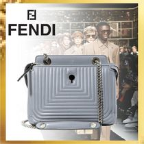 FENDI Leather Elegant Style Shoulder Bags