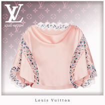 Louis Vuitton Silk Blended Fabrics Tops
