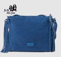 Casual Style Suede Plain Totes