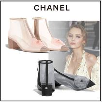 CHANEL Plain Block Heels Home Party Ideas With Jewels Elegant Style