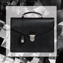 CELINE Street Style Plain Leather Business & Briefcases