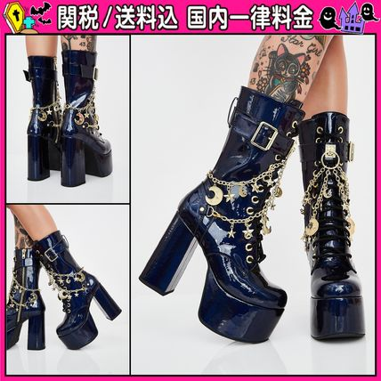 Platform Round Toe Lace-up Casual Style Lace-up Boots