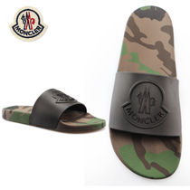 MONCLER Camouflage Street Style Shower Shoes Shower Sandals