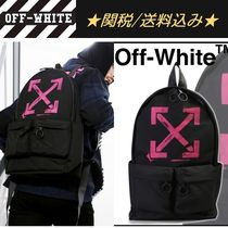 Off-White Unisex Street Style Bag in Bag A4 Backpacks