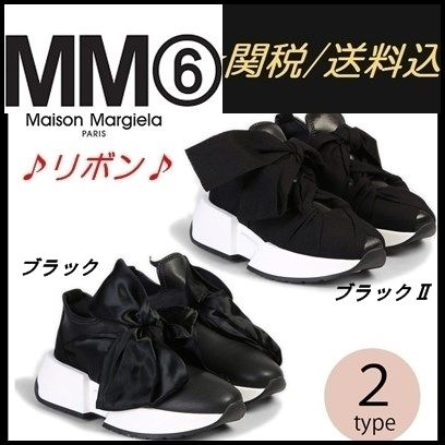 Round Toe Rubber Sole Bi-color Low-Top Sneakers