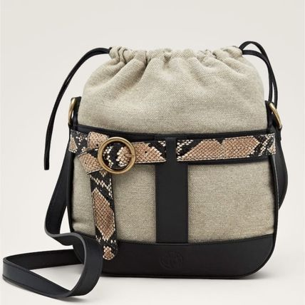 Casual Style Leather Purses Python Shoulder Bags