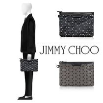 Jimmy Choo Star Studded Bag in Bag Leather Clutches