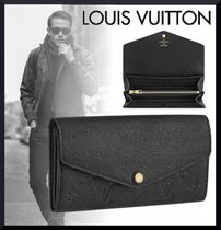 Louis Vuitton MONOGRAM EMPREINTE Unisex Plain Leather Long Wallets