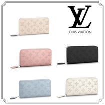Louis Vuitton MAHINA Monogram Leather Long Wallets