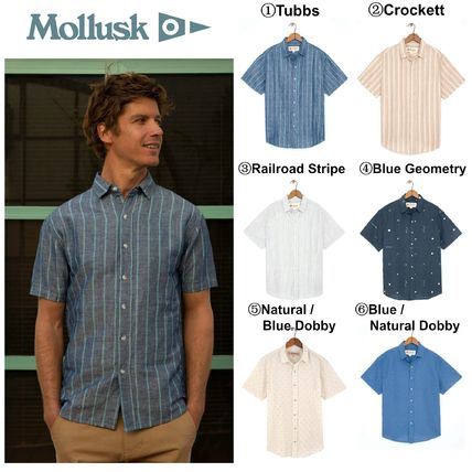 Button-down Cotton Short Sleeves Shirts